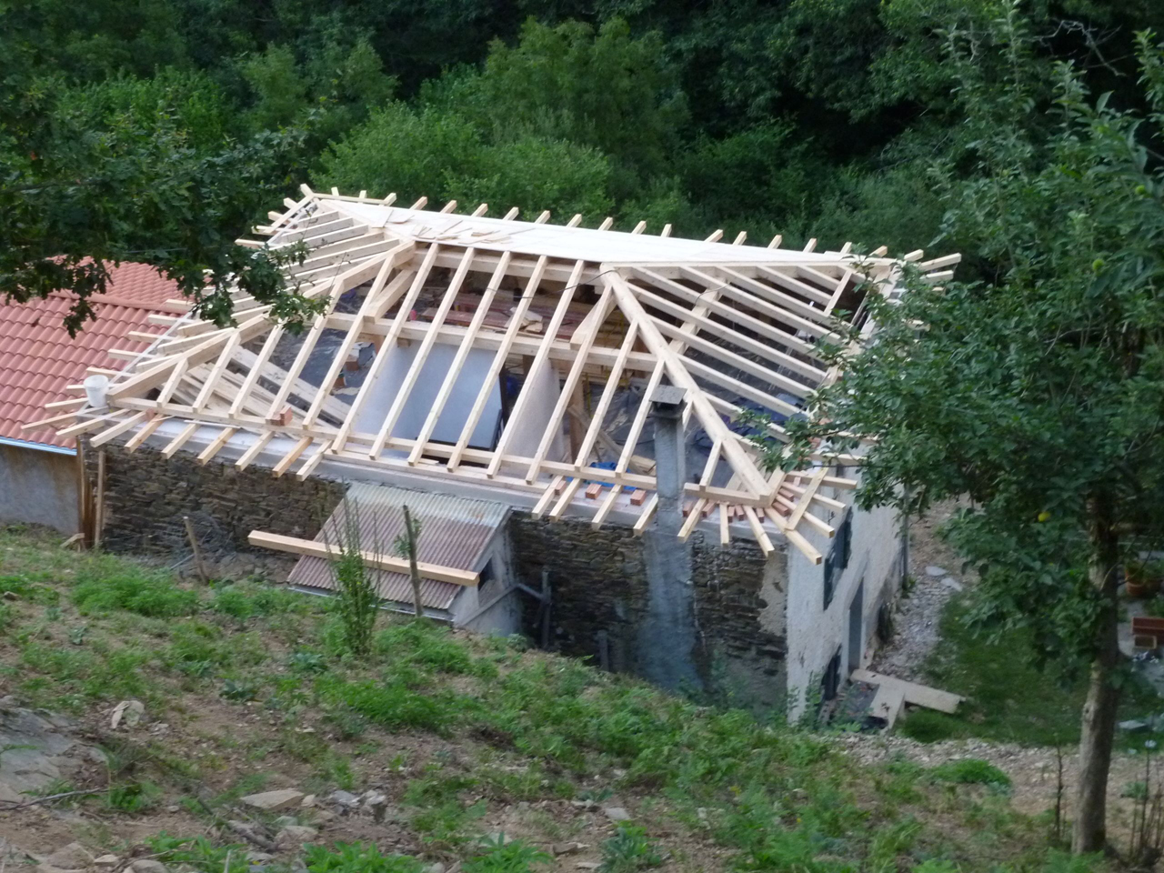 tejado cuatro aguas carpinter a de armar foromadera